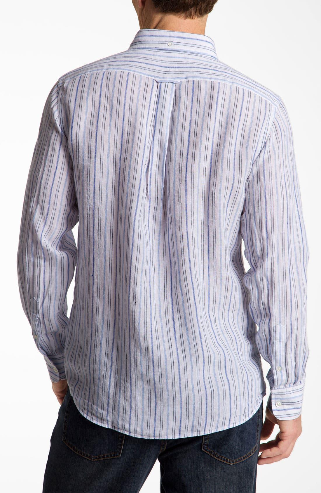 Alternate Image 2  - Façonnable Club Fit Linen Sport Shirt