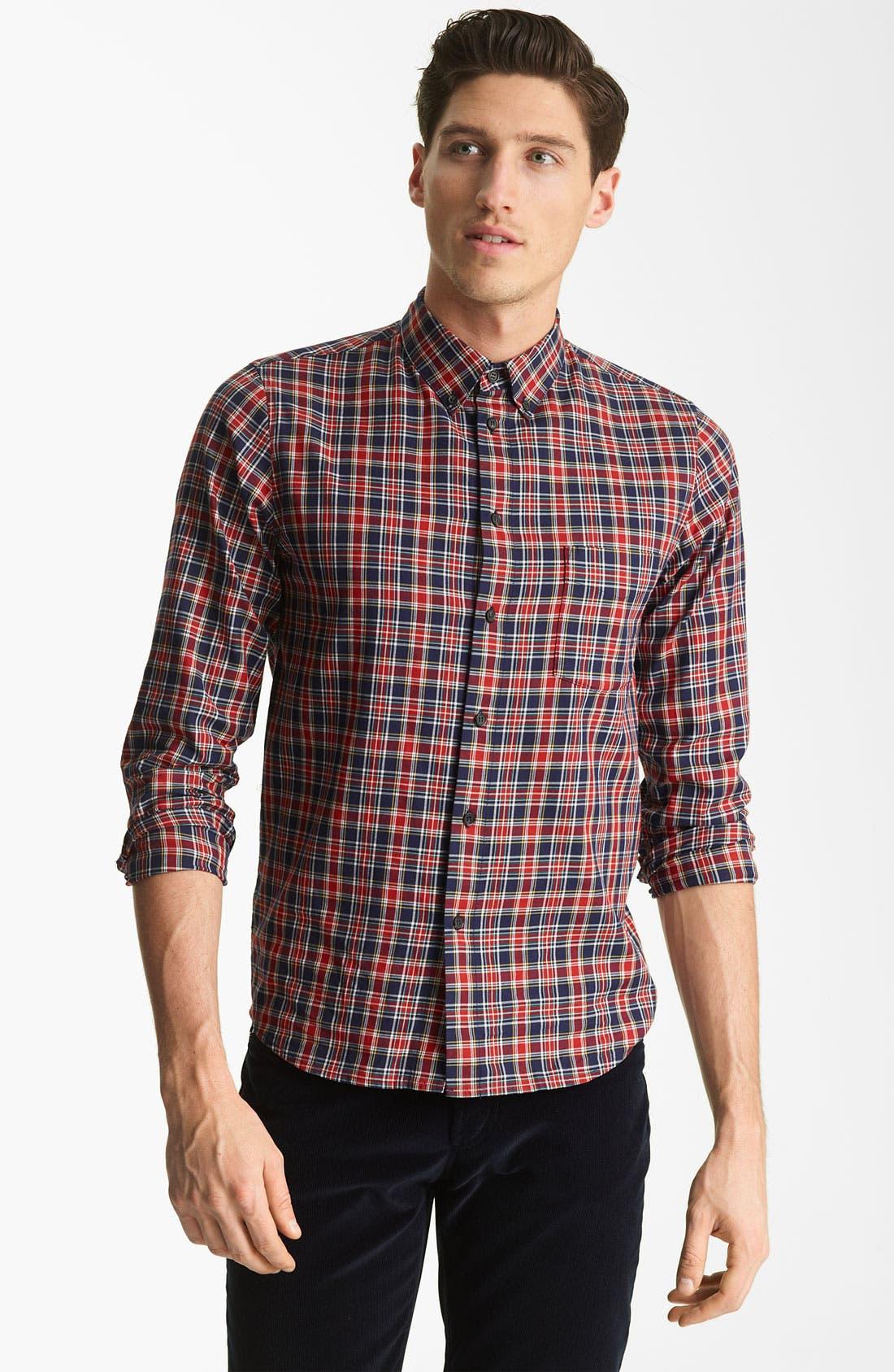 Alternate Image 1 Selected - A.P.C. 'Vintage' Plaid Cotton Shirt