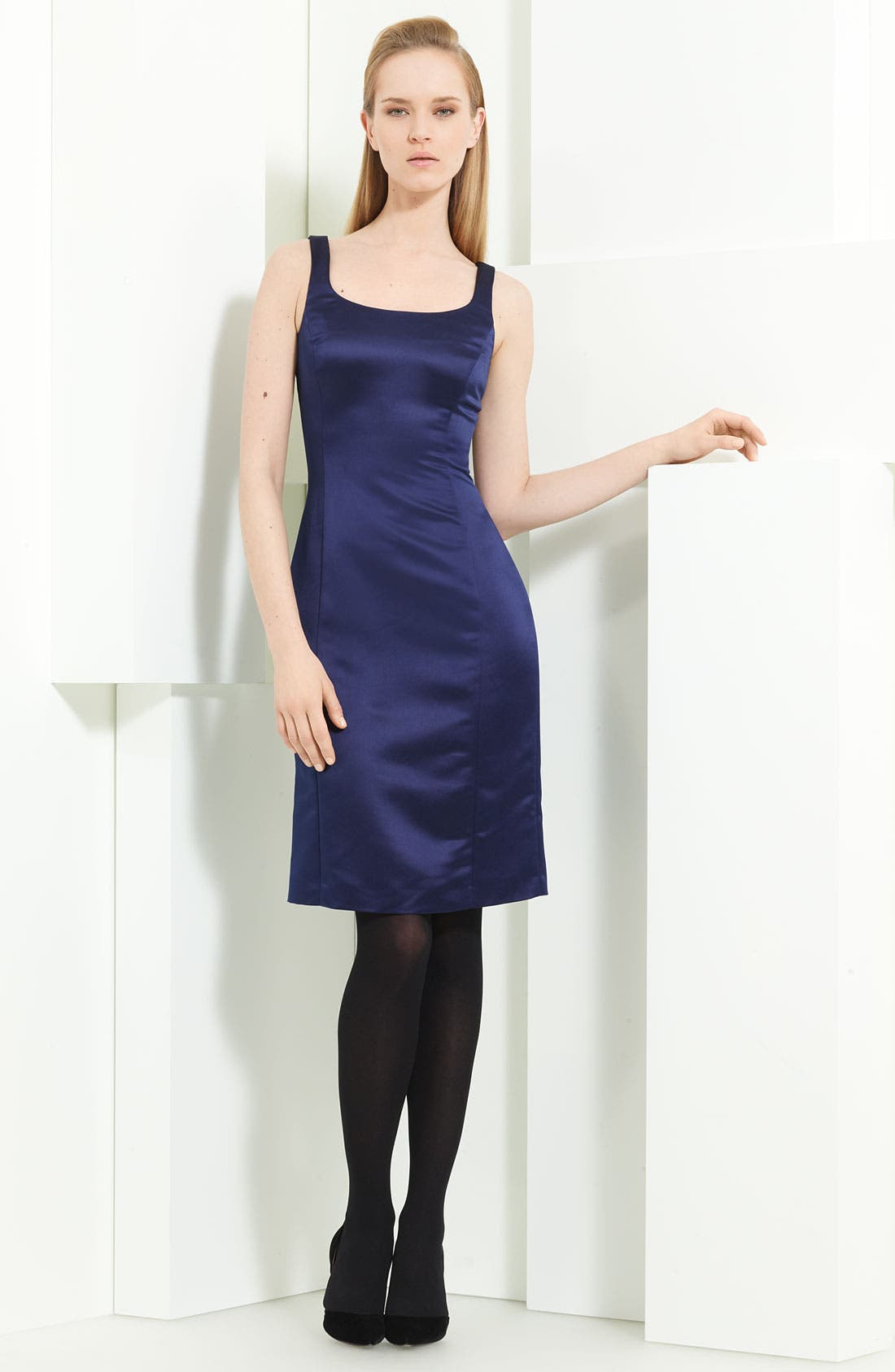 Main Image - Armani Collezioni Duchesse Satin Sheath Dress