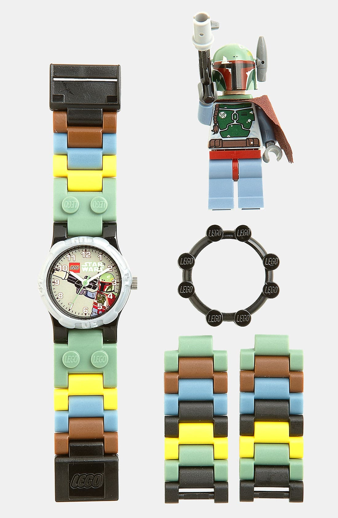 Alternate Image 1 Selected - LEGO® 'Boba Fett™' Character Watch & Toy (Boys)