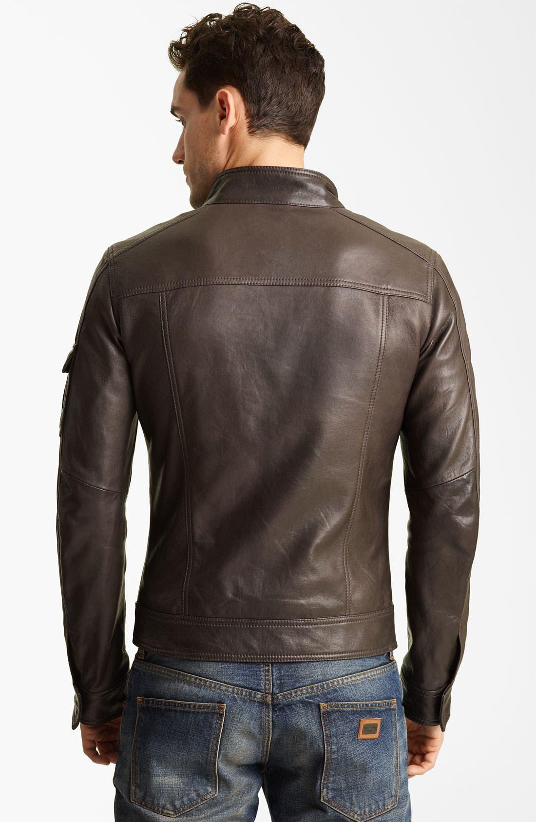 Alternate Image 2  - Dolce&Gabbana Leather Jacket