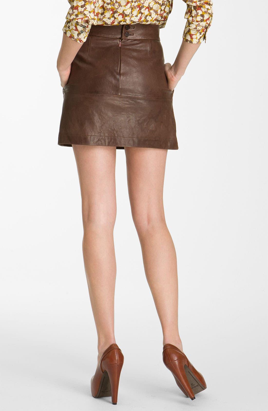Alternate Image 2  - Paul & Joe Sister 'Cartell' Leather Skirt