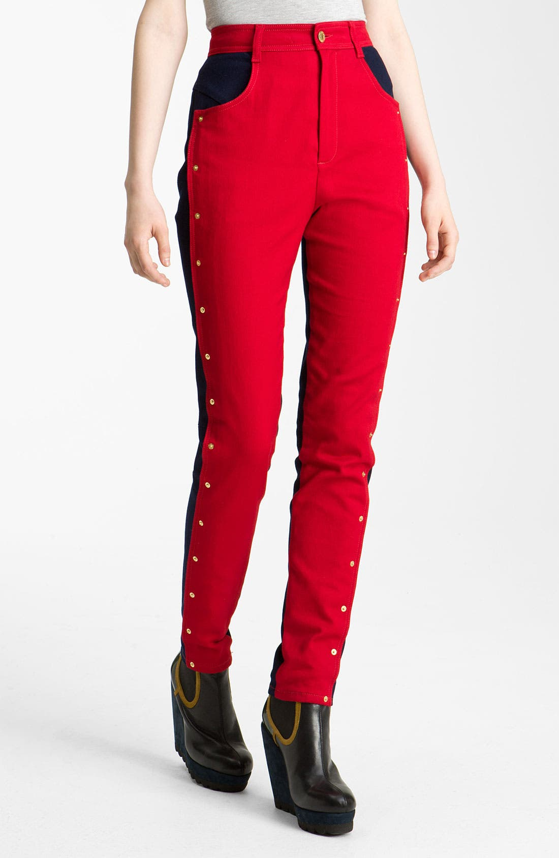 Alternate Image 2  - KENZO Studded Colorblock Jeans
