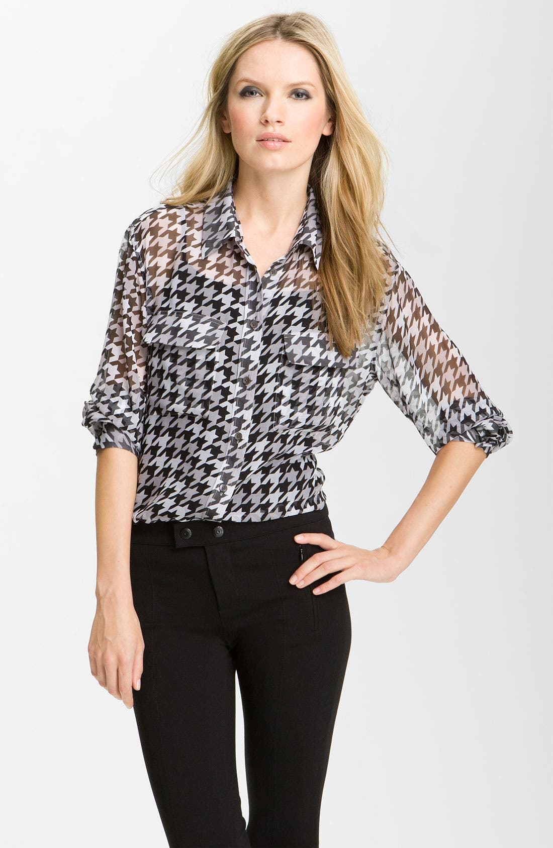 Main Image - Equipment 'Signature' Houndstooth Shirt