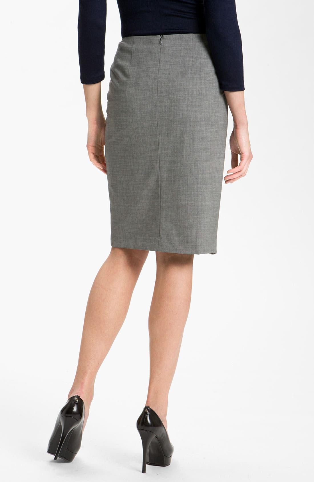 Alternate Image 2  - Lafayette 148 New York Faux Wrap Skirt