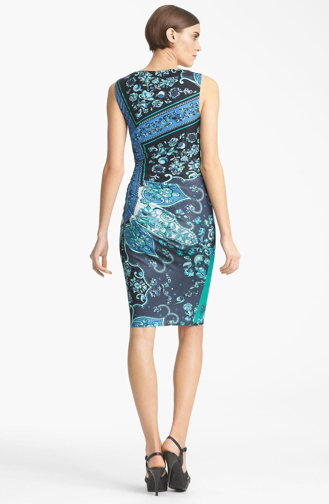 Alternate Image 2  - Emilio Pucci Silk Jersey Pencil Dress