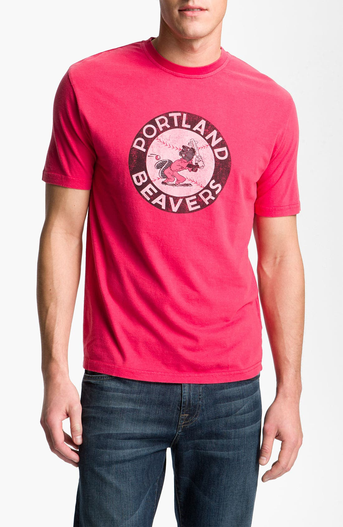 Alternate Image 1 Selected - Red Jacket 'Portland Beavers - Brass Tack' T-Shirt