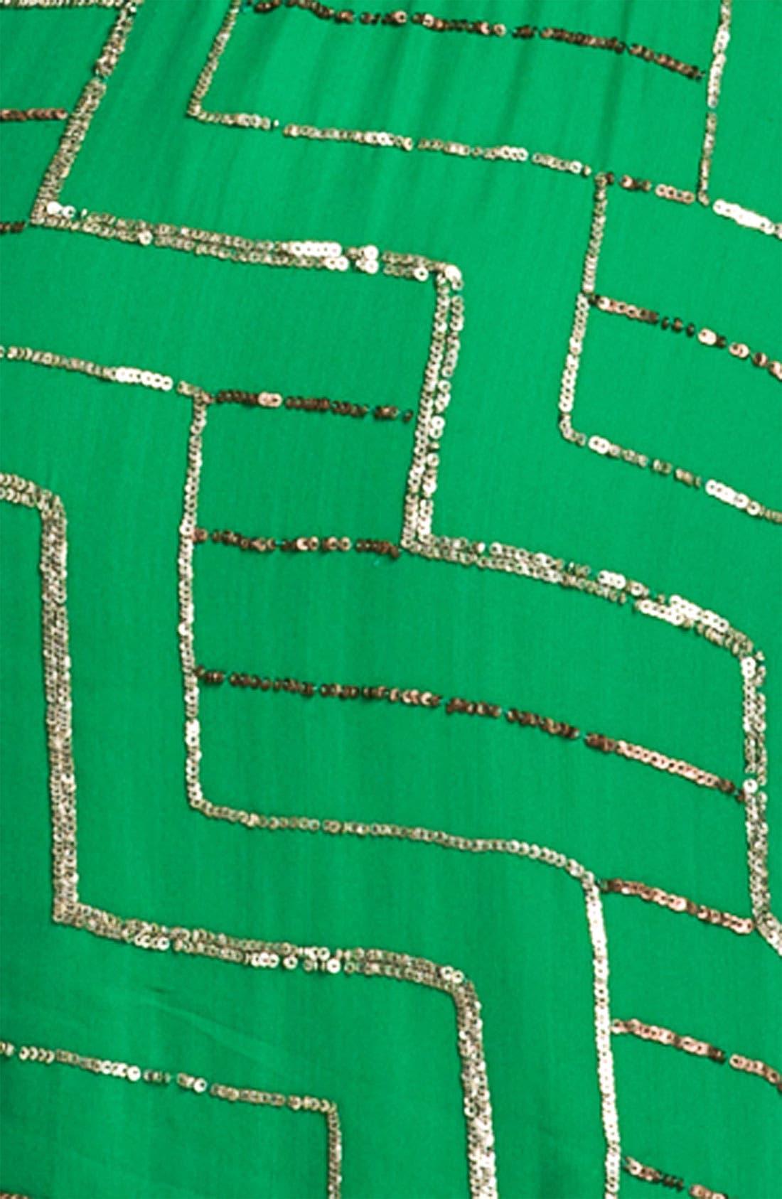 Alternate Image 3  - Parker Silk Geometric Sequin Slipdress