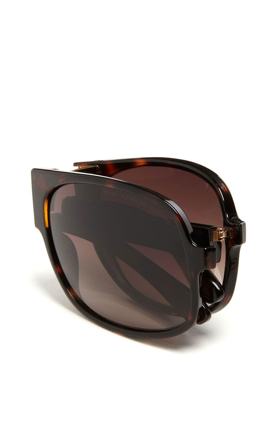 Alternate Image 2  - MARC BY MARC JACOBS 61mm Folding Aviator Sunglasses