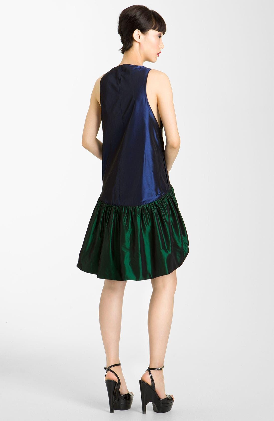 Alternate Image 2  - KENZO Reversible Drop Waist Taffeta Dress