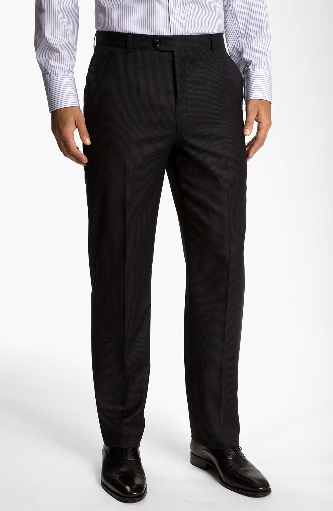 Alternate Image 4  - Hickey Freeman Stripe Suit