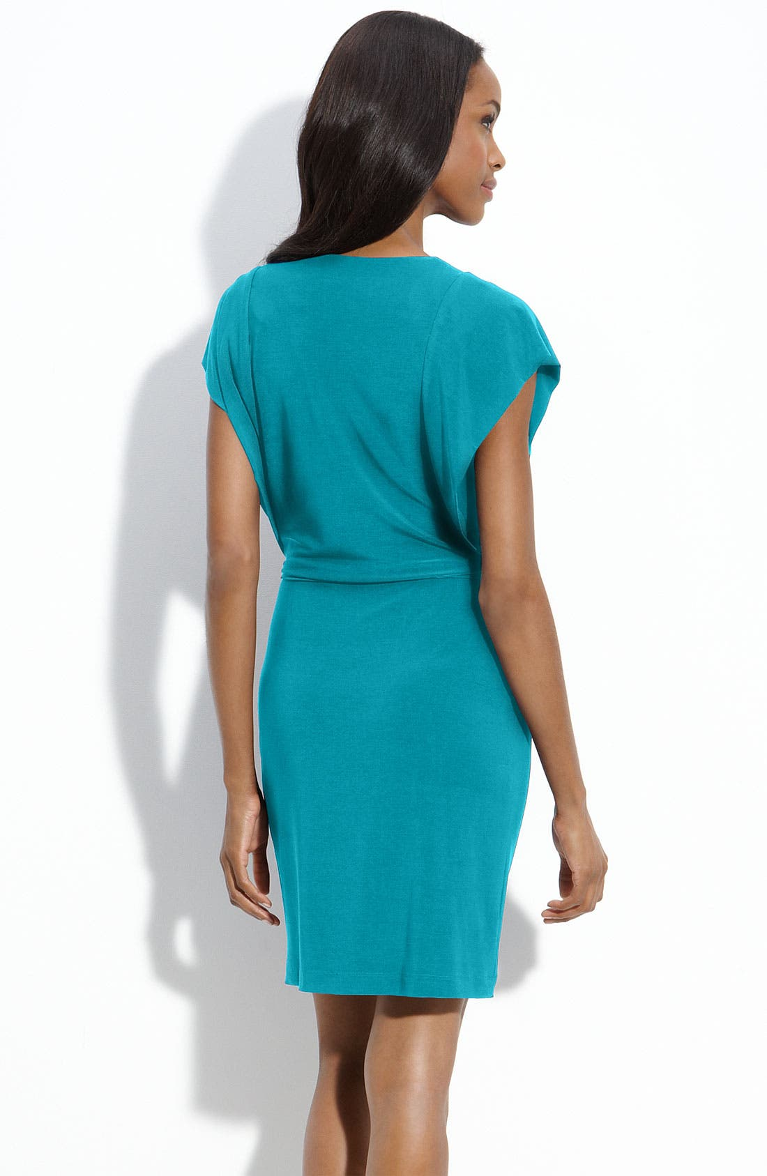 Alternate Image 2  - Alex & Ava Jersey Sheath Dress