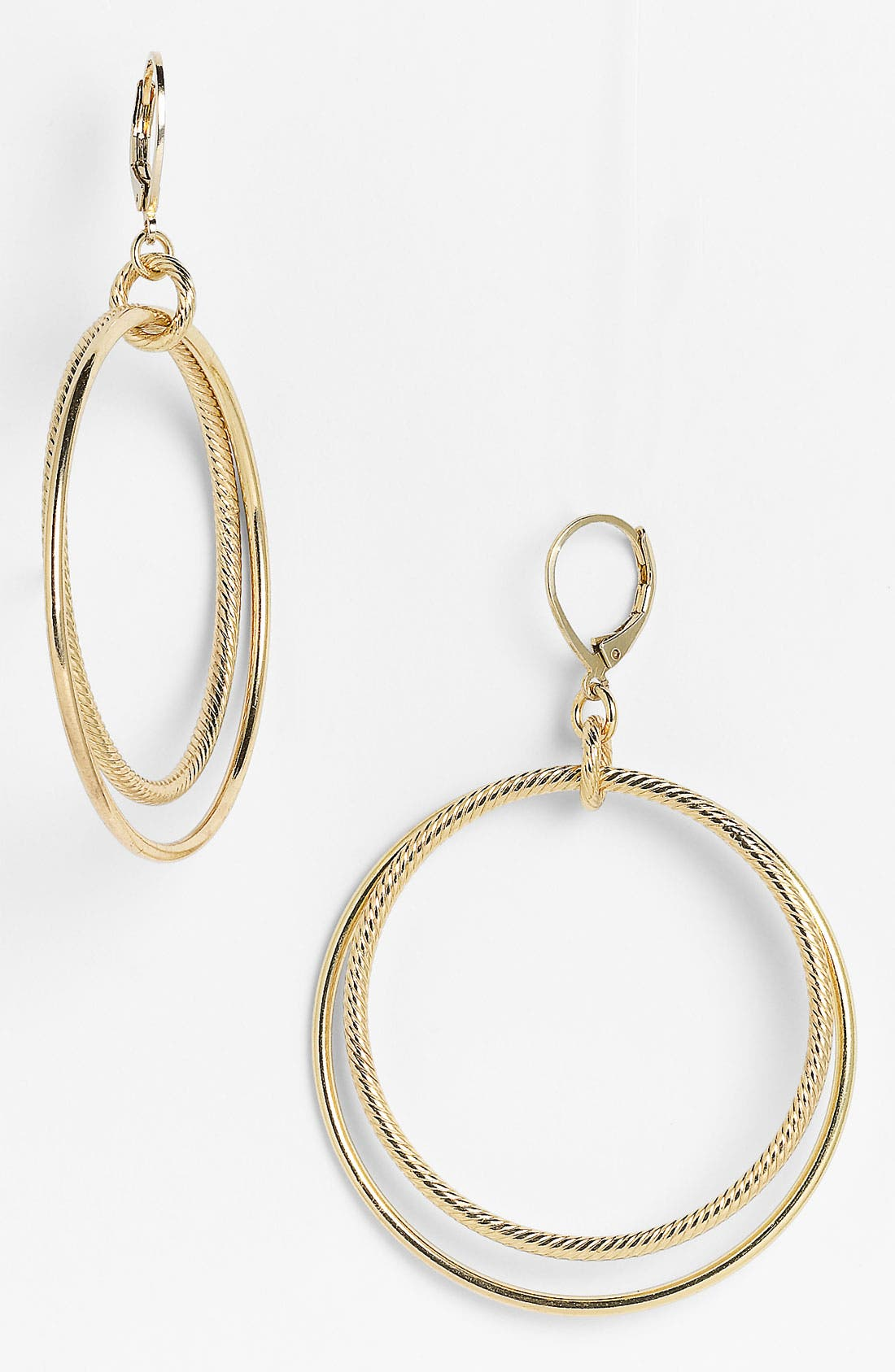 Main Image - Nordstrom Cable Double Frontal Hoop Earrings