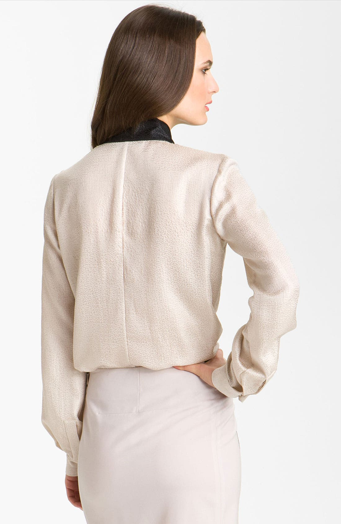 Alternate Image 2  - Rachel Roy Silk Tuxedo Shirt