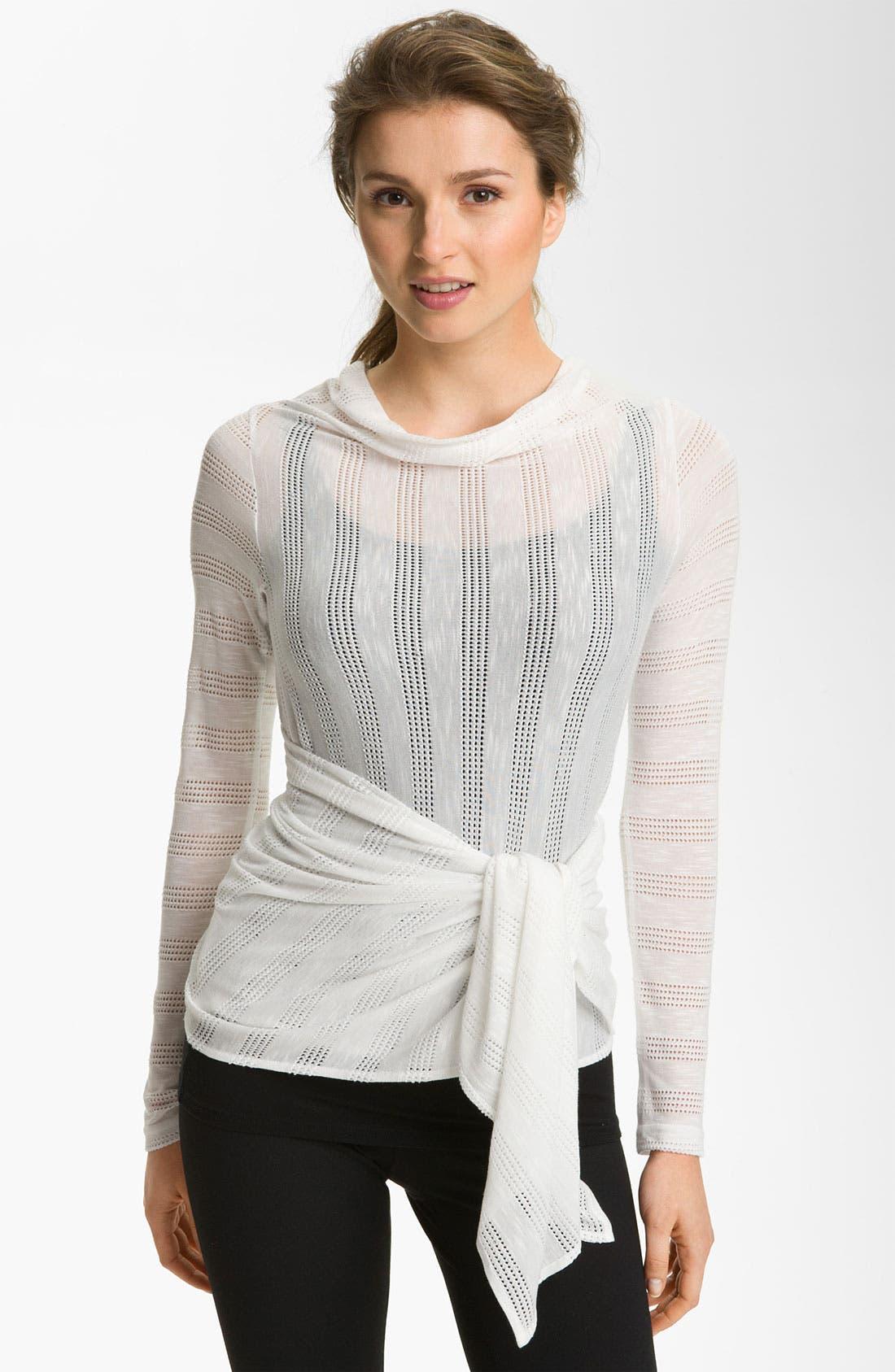 Alternate Image 2  - Pink Lotus 'Needle Out Infinity' Wrap Cardigan