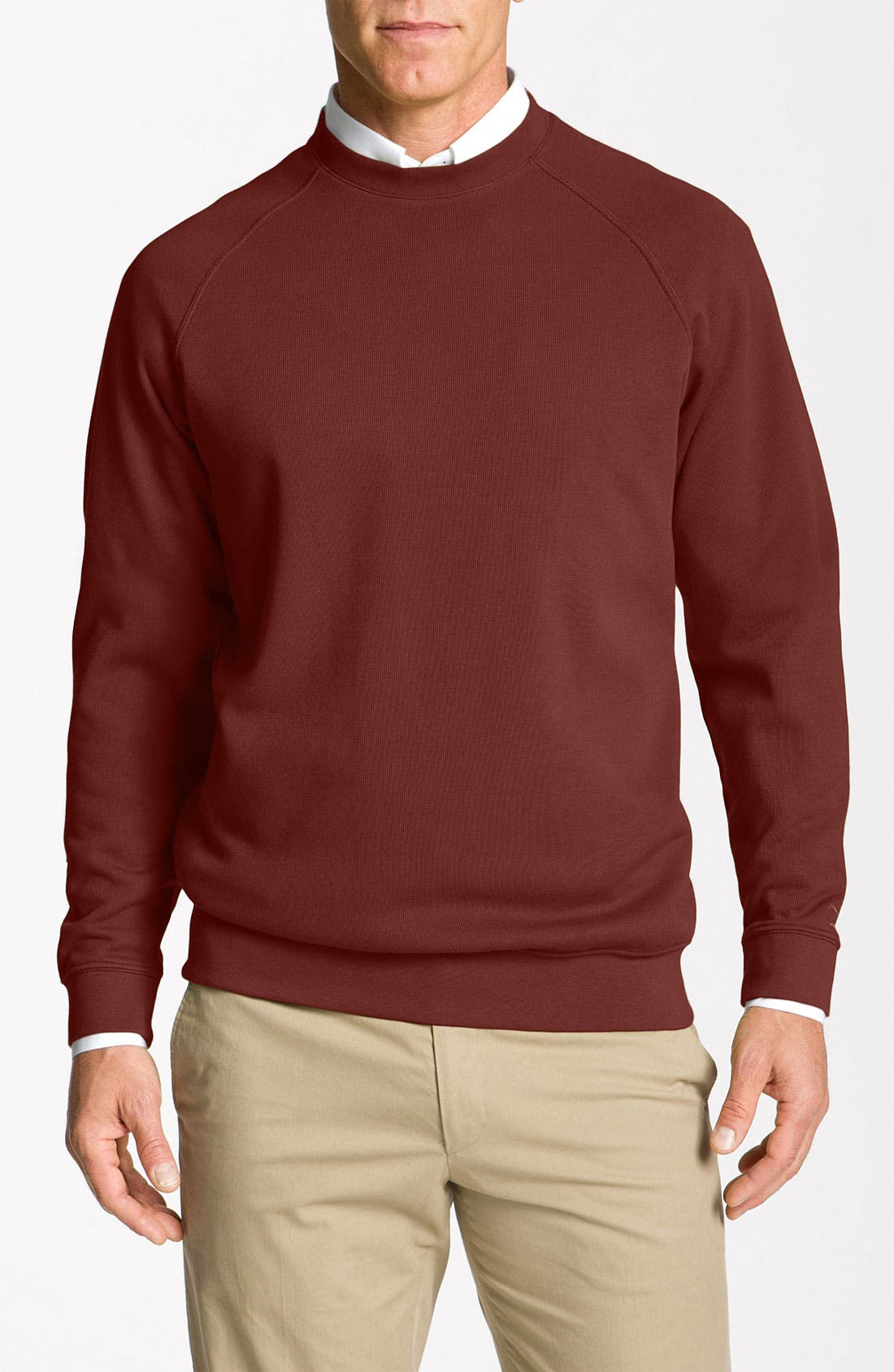 Main Image - Cutter & Buck 'Canoe Ridge' Crewneck Sweater (Big & Tall) (Online Exclusive)
