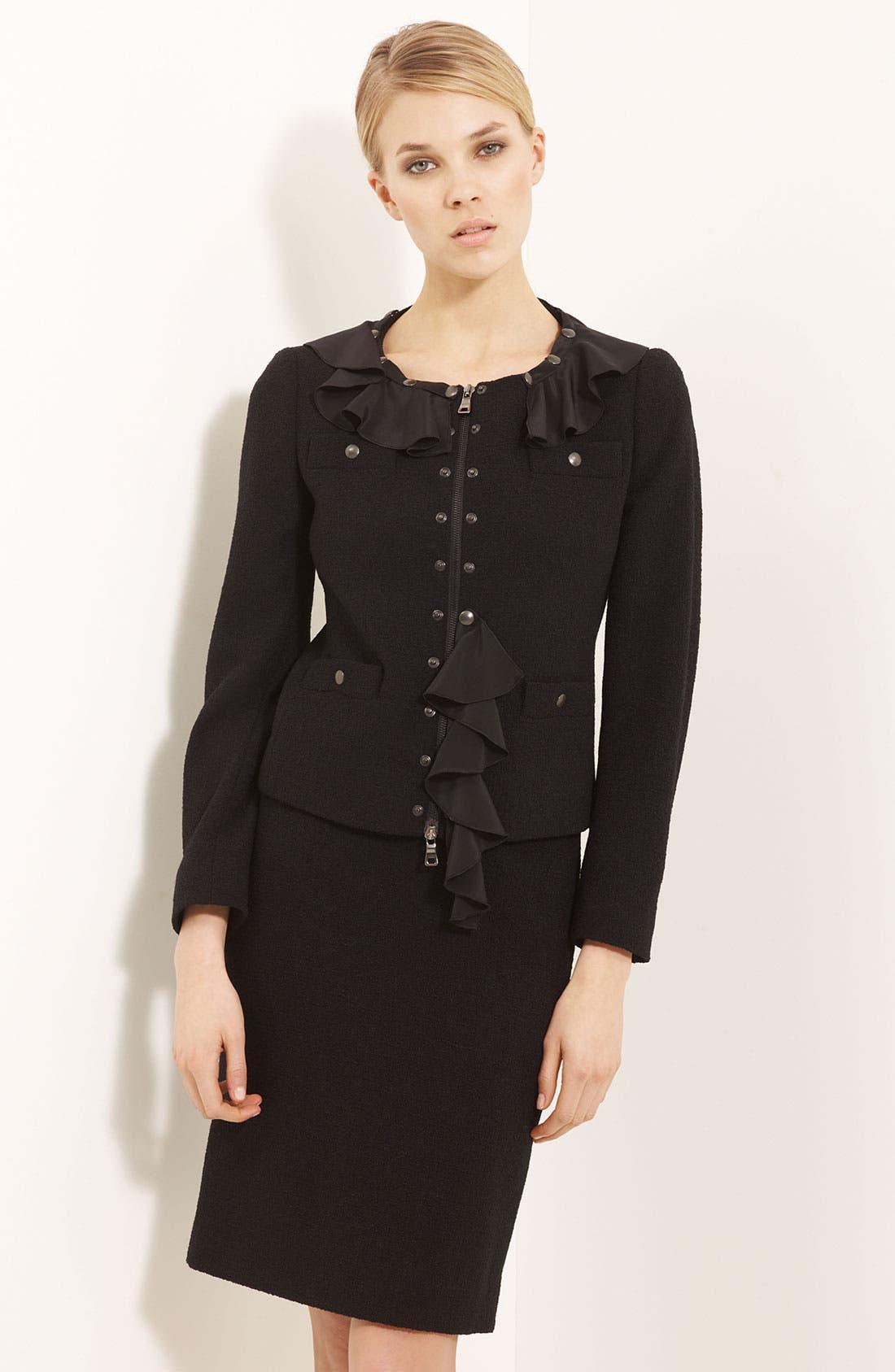 Alternate Image 1 Selected - Moschino Cheap & Chic Detachable Ruffle Trim Jacket