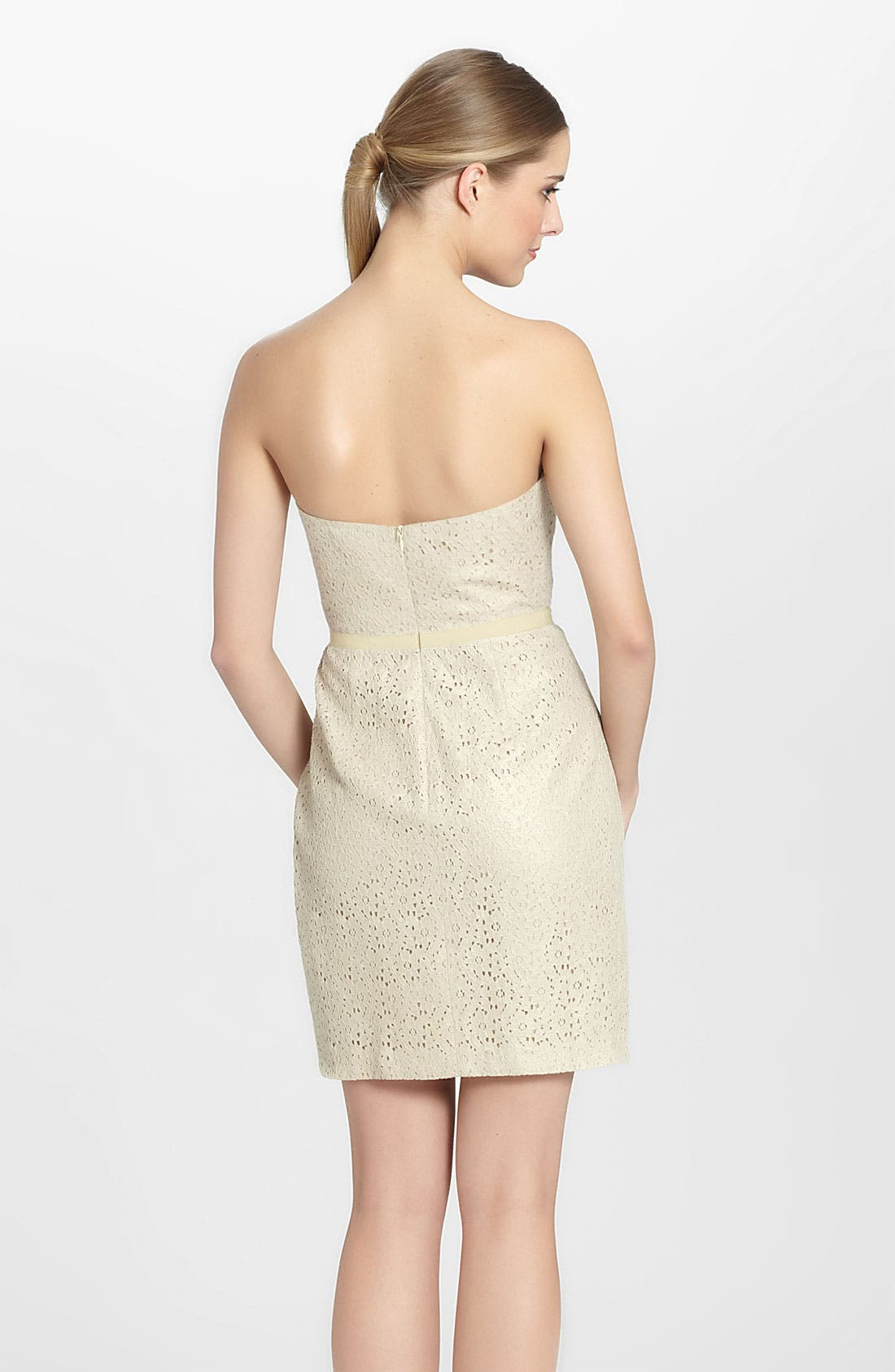 Alternate Image 2  - Seamline Cynthia Steffe 'Chloe' Foiled Lace Sheath Dress