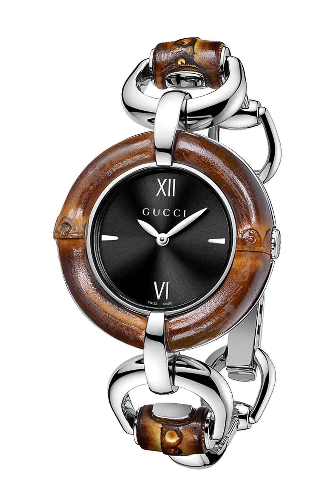 Alternate Image 1 Selected - Gucci Bamboo Bangle Watch, 35mm