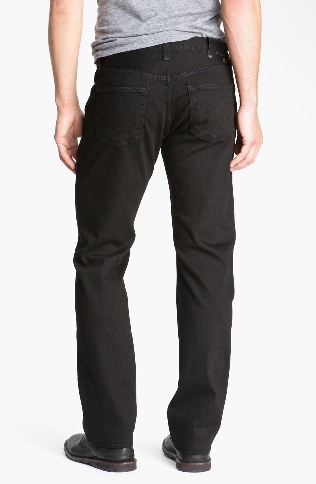 Alternate Image 2  - J Brand 'Kane' Slim Straight Leg Jeans (Phantom Black)