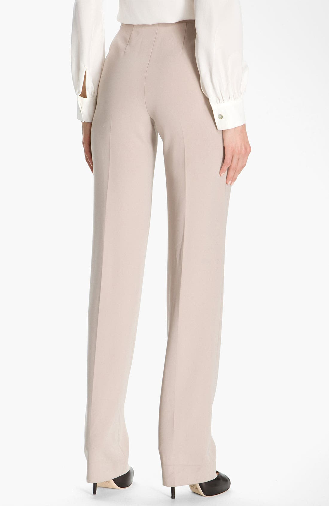 Alternate Image 3  - St. John Collection Straight Leg Crepe Marocain Pants