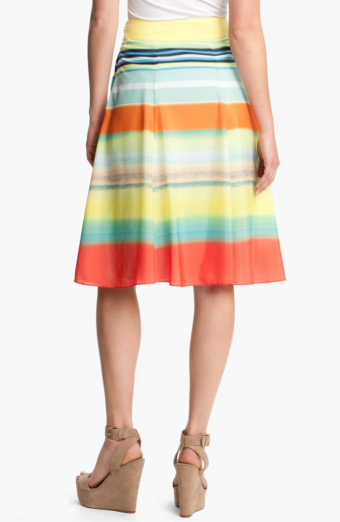 Alternate Image 2  - Ted Baker London Stripe Pleated Skirt