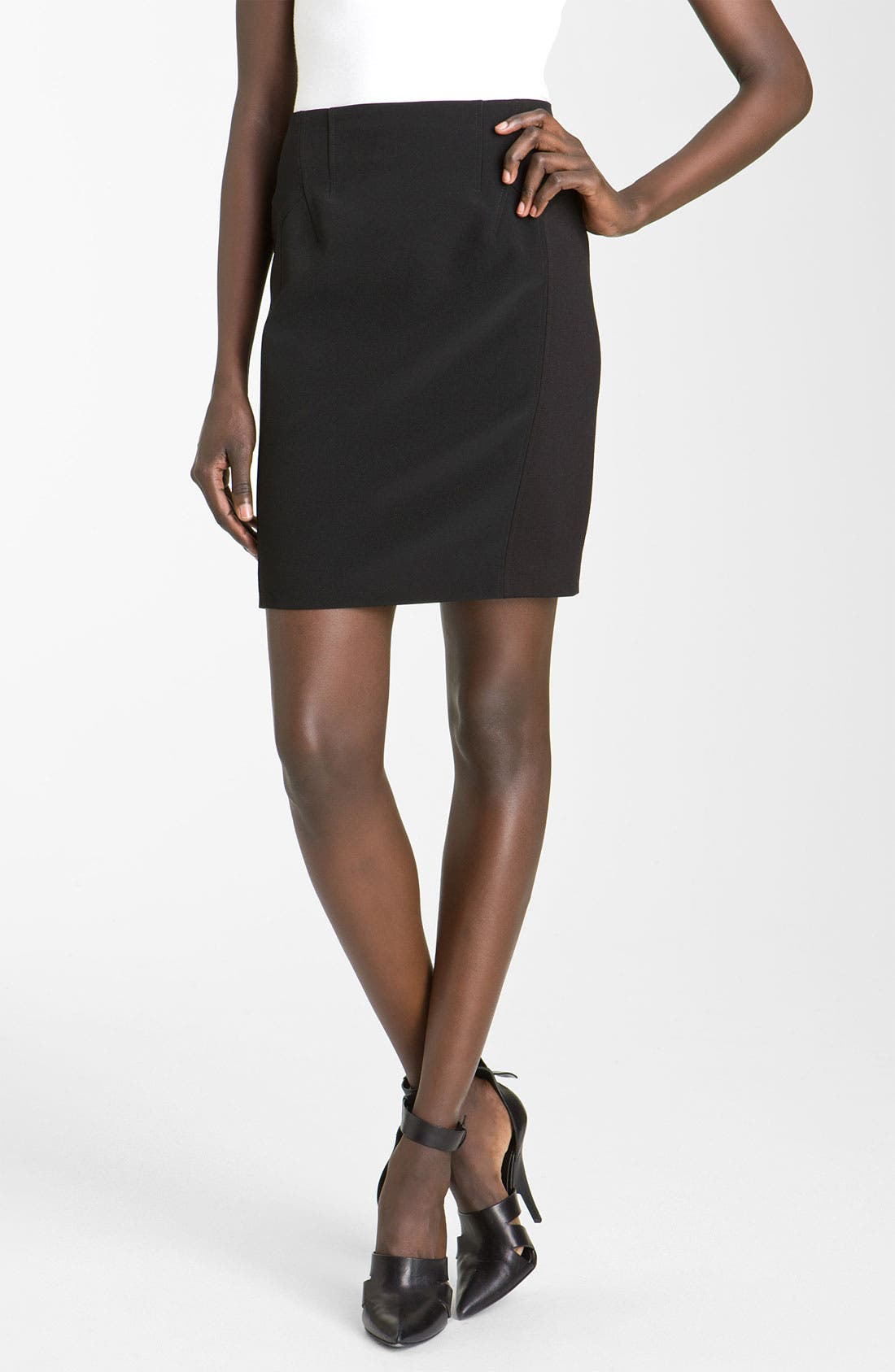 Main Image - Alexander Wang Contrast Panel Ponte Knit Skirt
