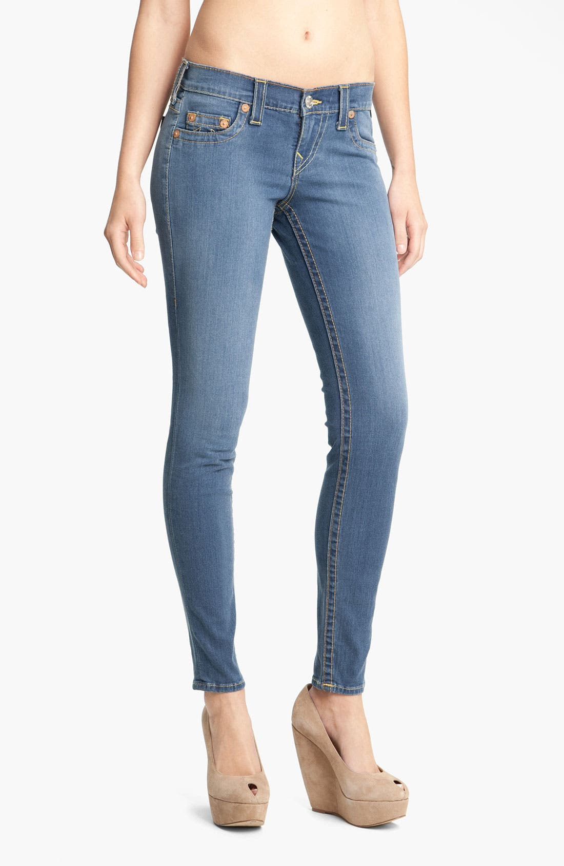 Alternate Image 1 Selected - True Religion Brand Jeans 'Casey' Skinny Stretch Jeans (Stingray)