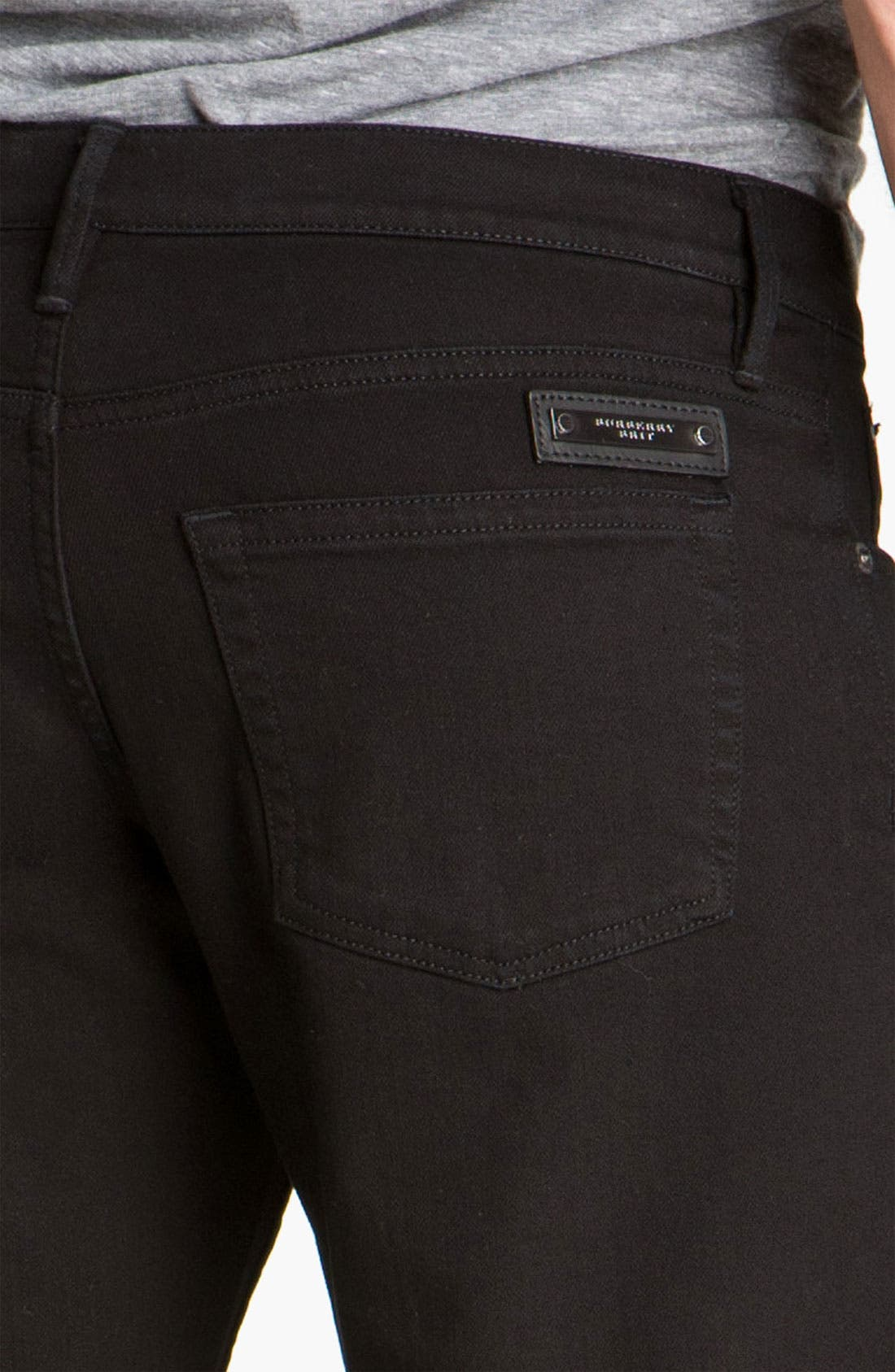 Alternate Image 4  - Burberry Brit Stretch Denim Jeans (Clean Black)