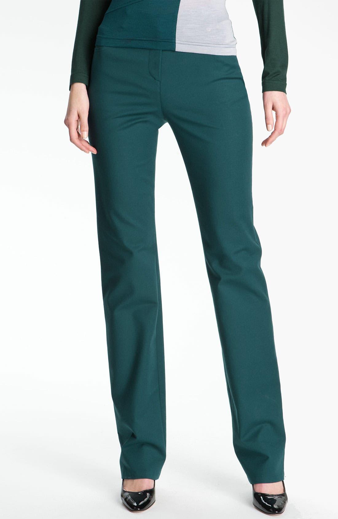 Main Image - St. John Yellow Label Straight Leg Twill Pants