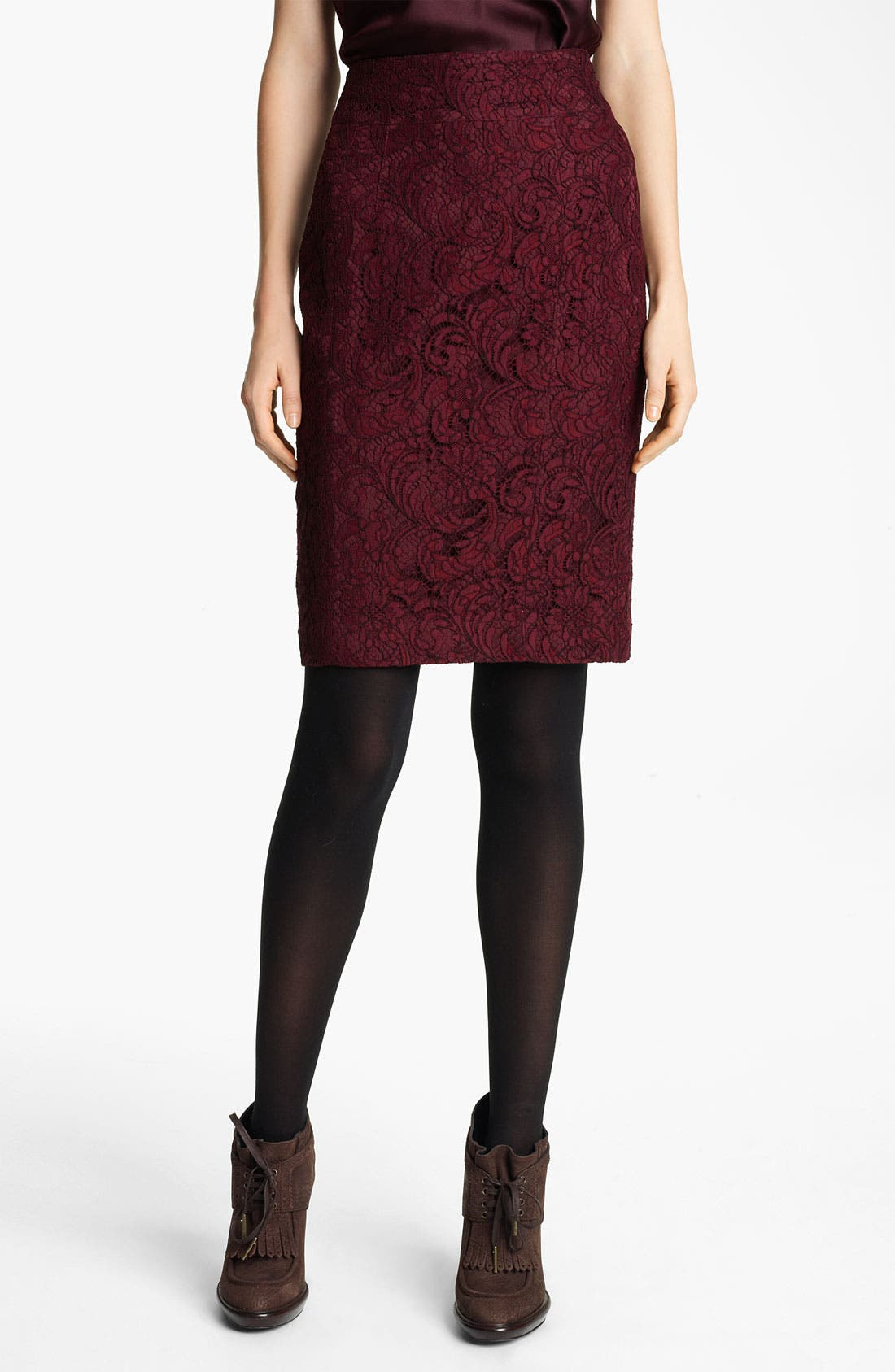 Main Image - Burberry London Lace Skirt