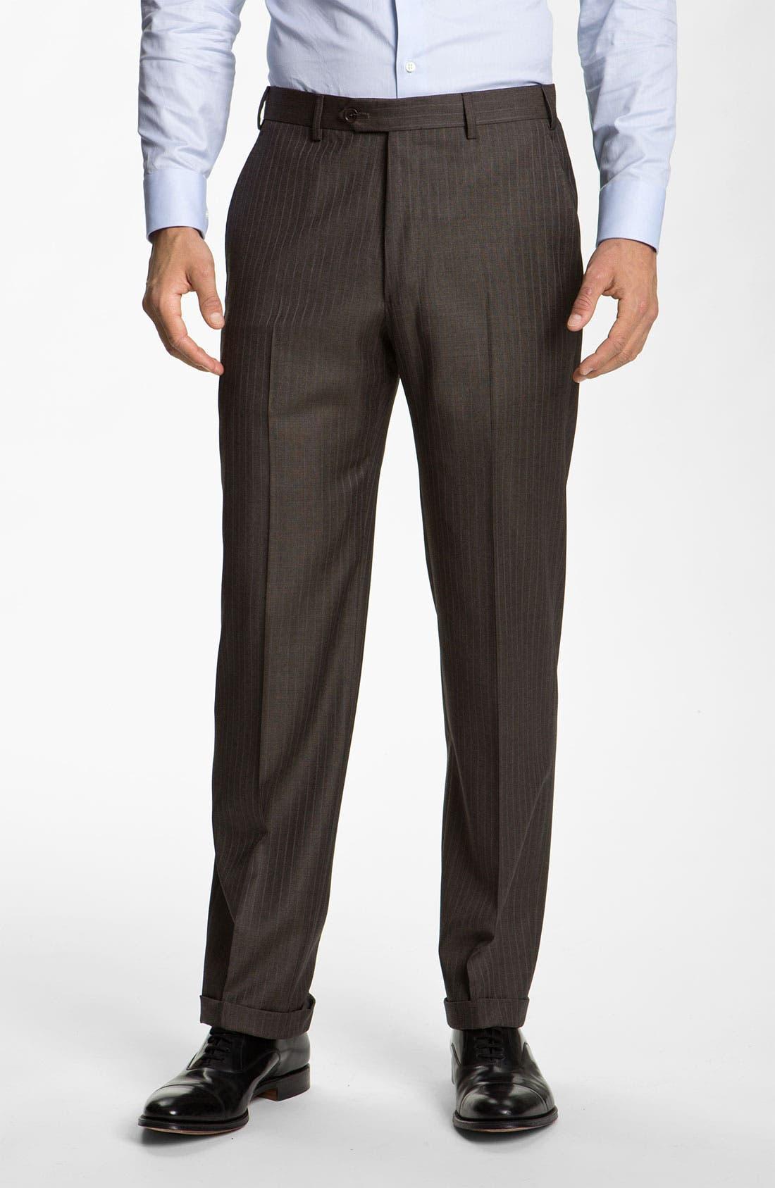 Alternate Image 4  - Armani Collezioni Stripe Wool Suit