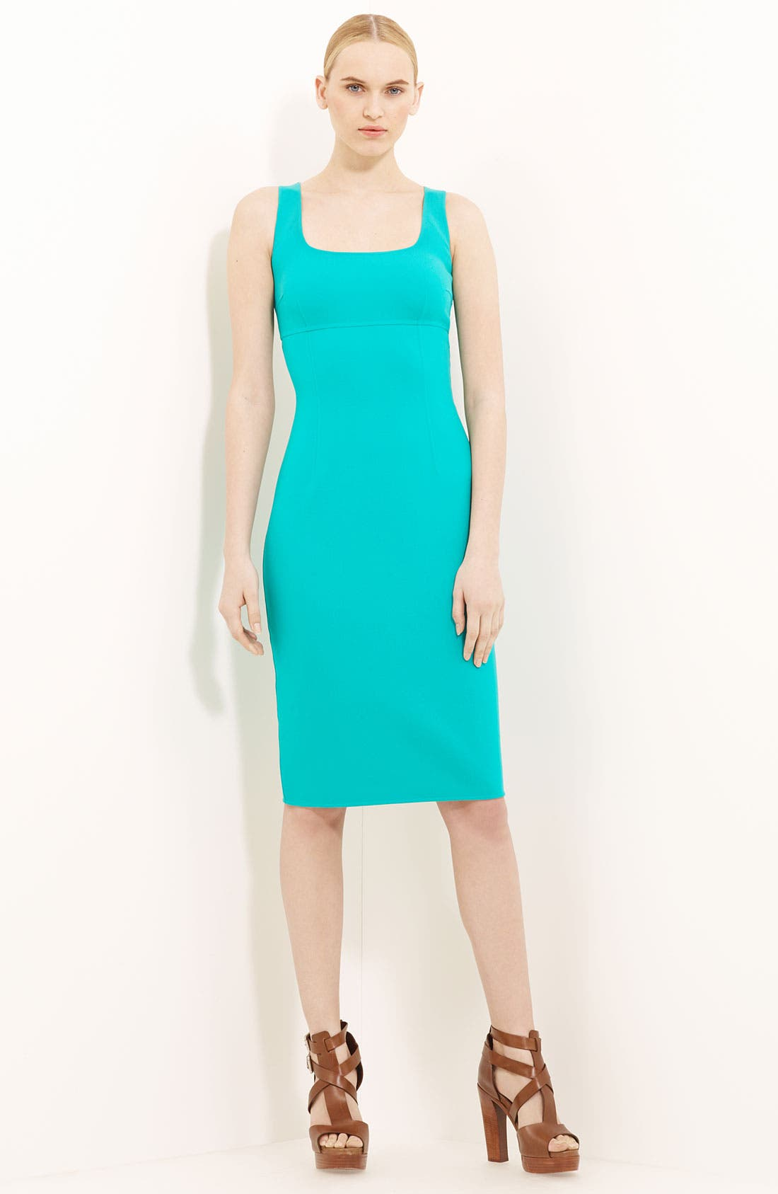 Alternate Image 1 Selected - Michael Kors Wool Crepe Sheath Dress