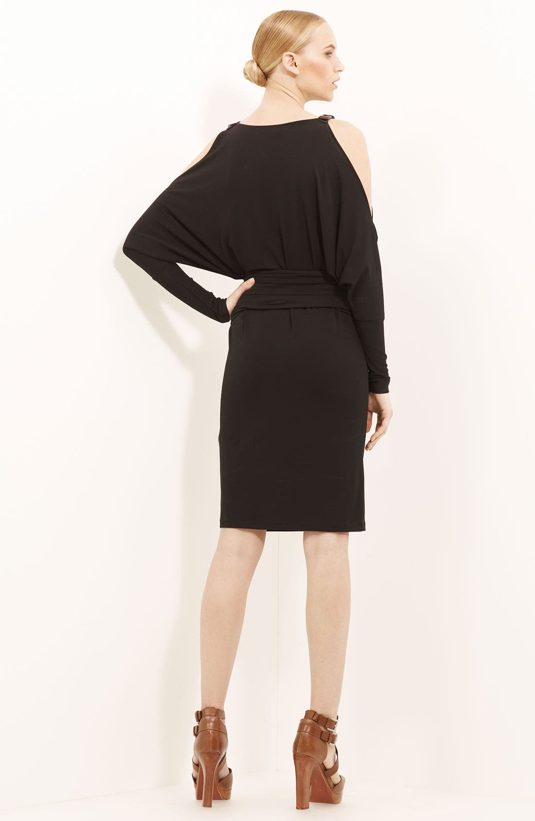 Alternate Image 2  - Michael Kors Belted Matte Jersey Dress