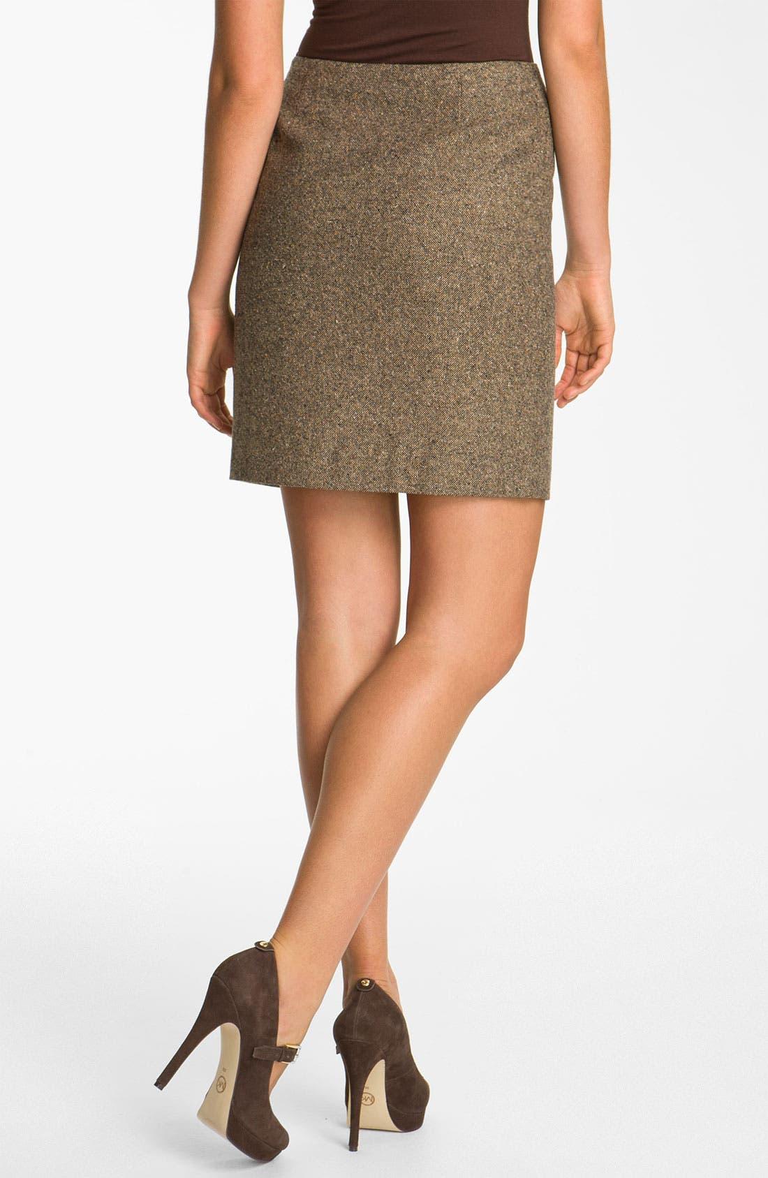 Alternate Image 2  - MICHAEL Michael Kors Faux Wrap Tweed Skirt