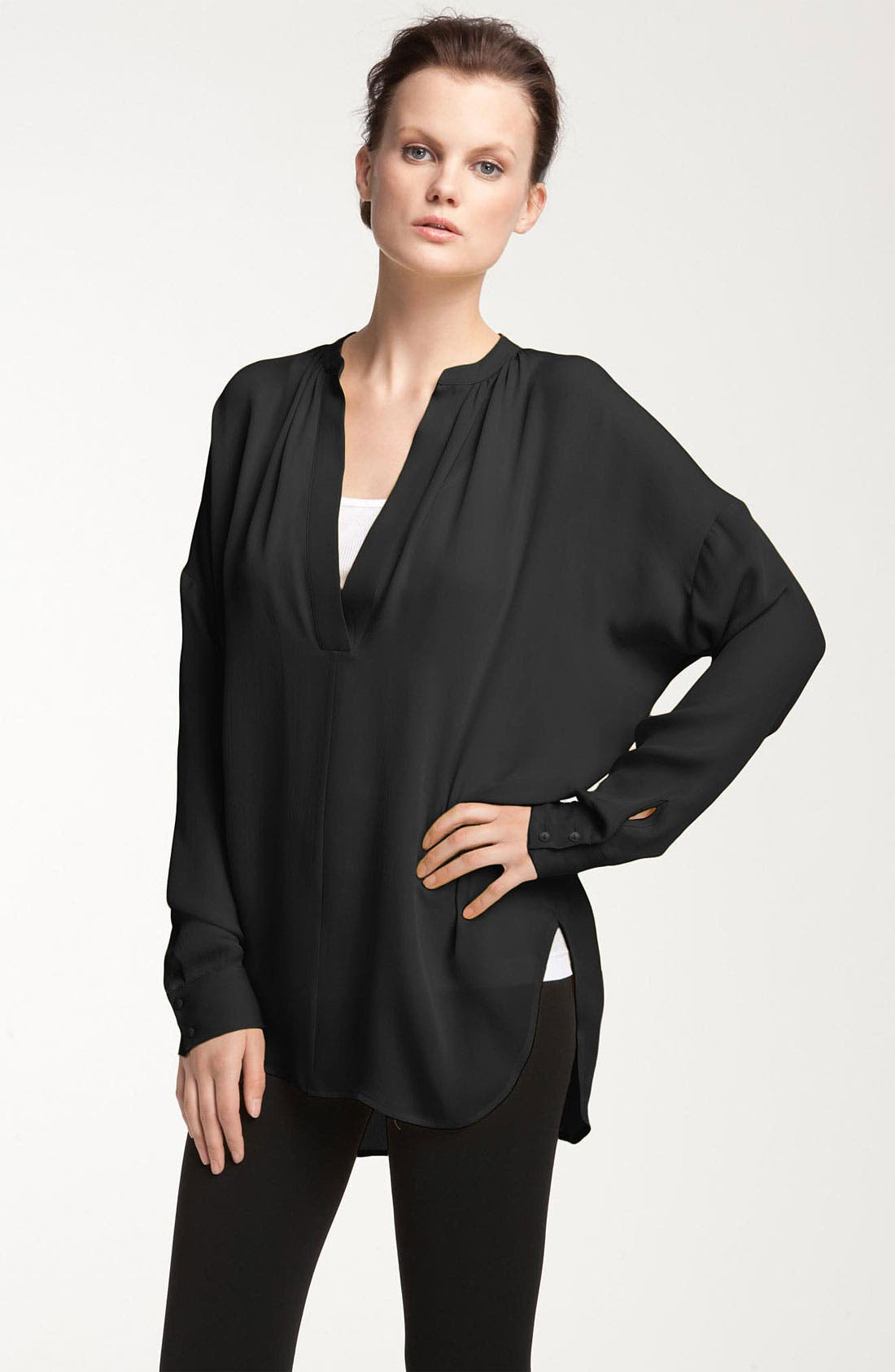 Alternate Image 1 Selected - Vince Oversized Silk Blouse