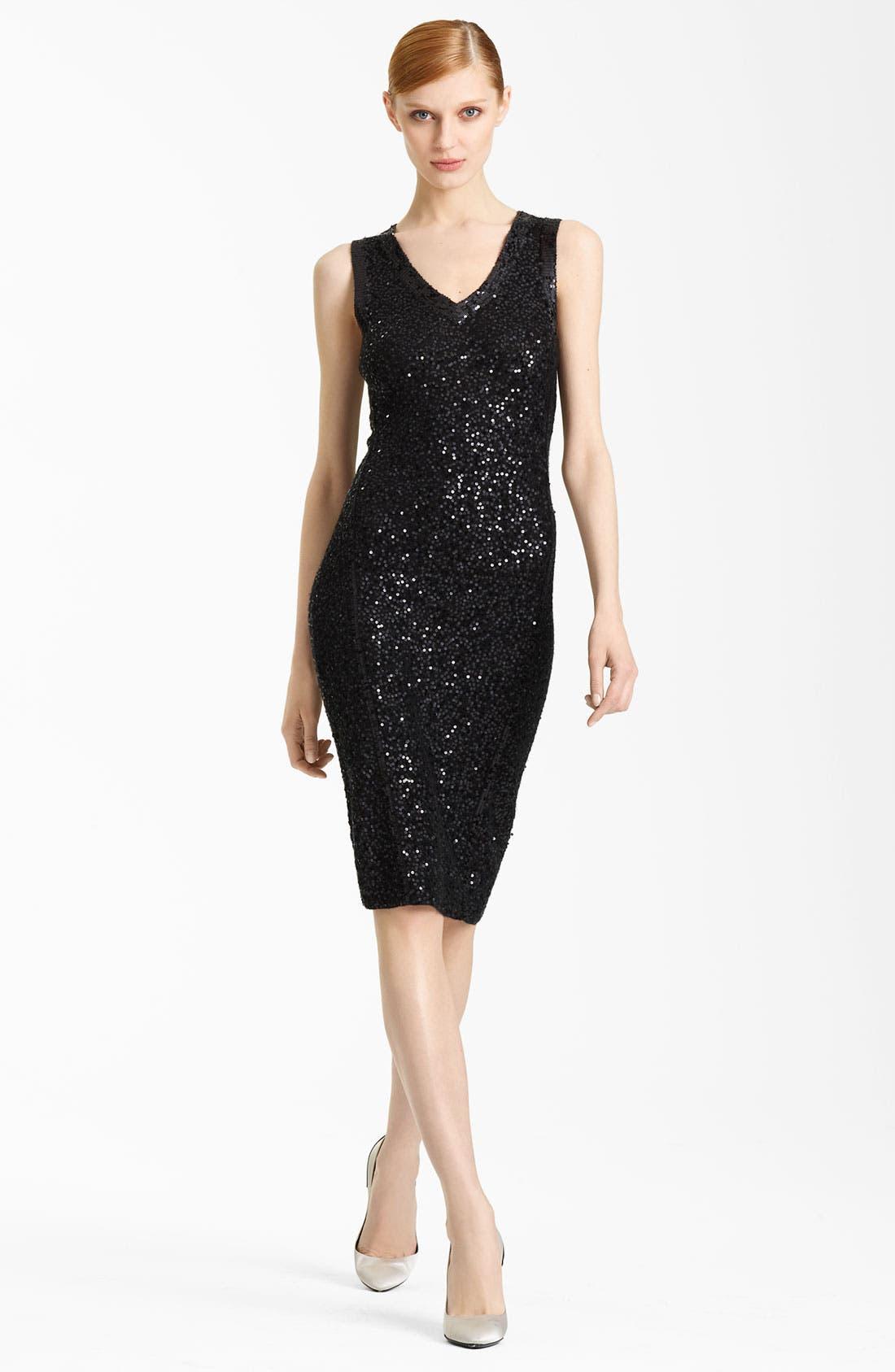 Main Image - Donna Karan Collection Sleeveless Sequin Dress