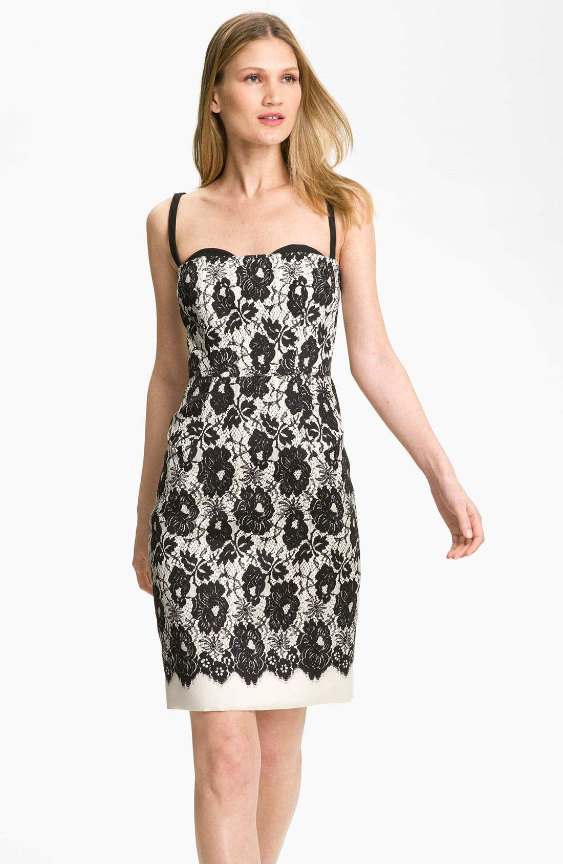 Alternate Image 1 Selected - Milly 'Genevieve' Lace Illusion Dress