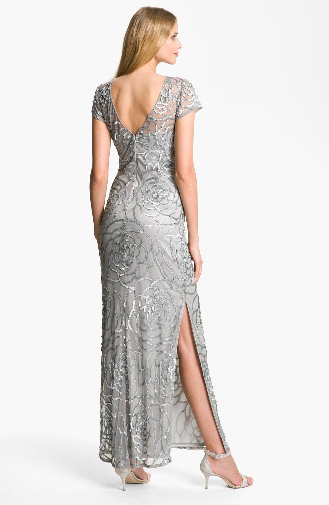 Alternate Image 2  - Aidan Mattox Sequin Mesh Gown