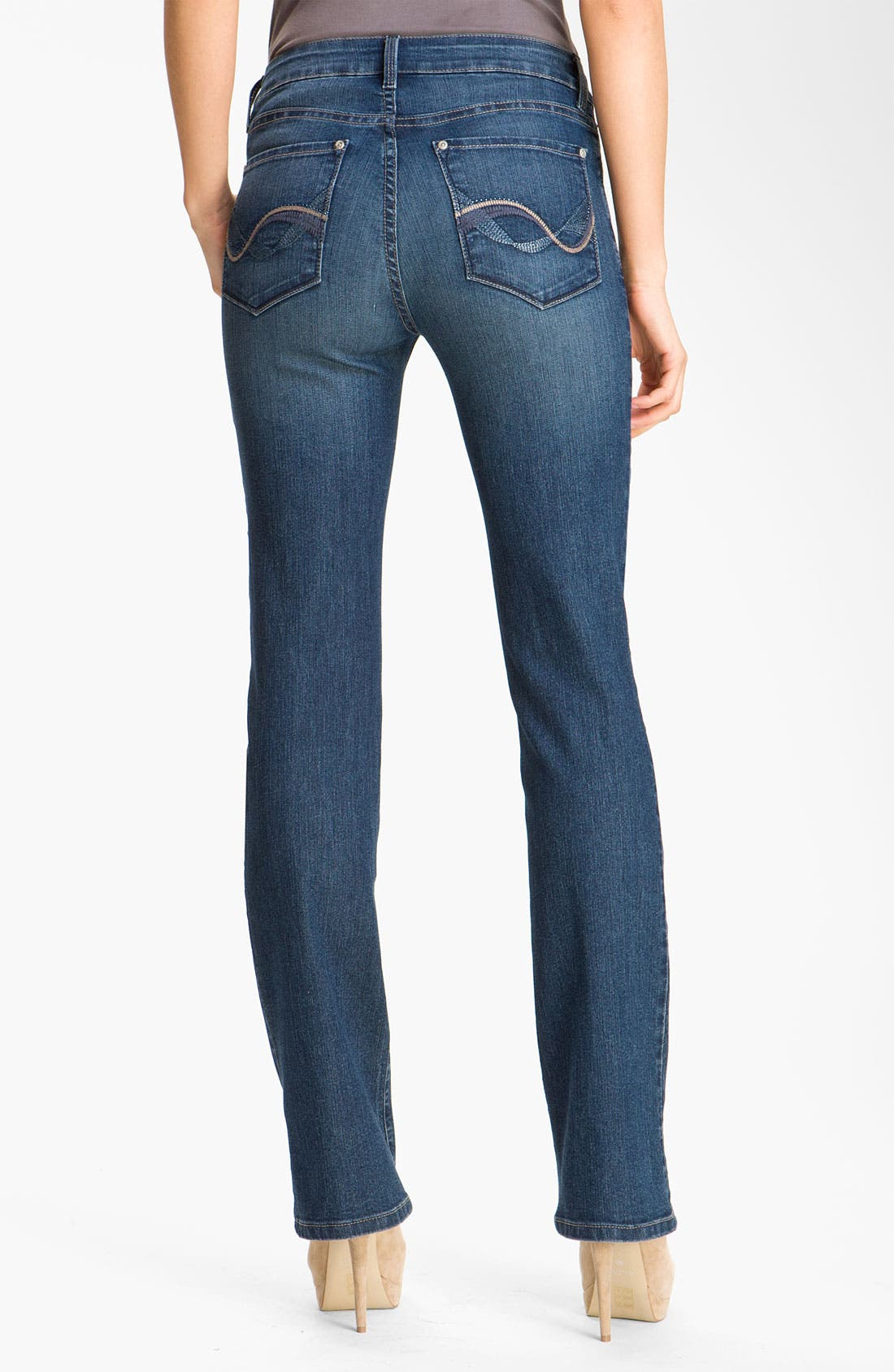 Alternate Image 2  - NYDJ 'Barbara' Embellished Bootcut Stretch Jeans