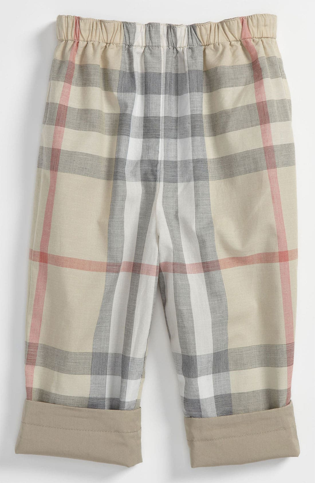 Main Image - Burberry 'Darcy' Reversible Trousers (Infant)