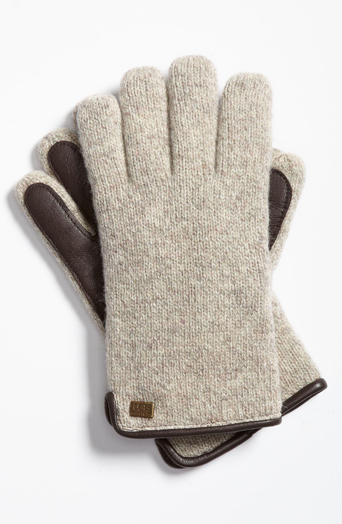 Alternate Image 1 Selected - UGG® Australia Lambswool Knit Gloves