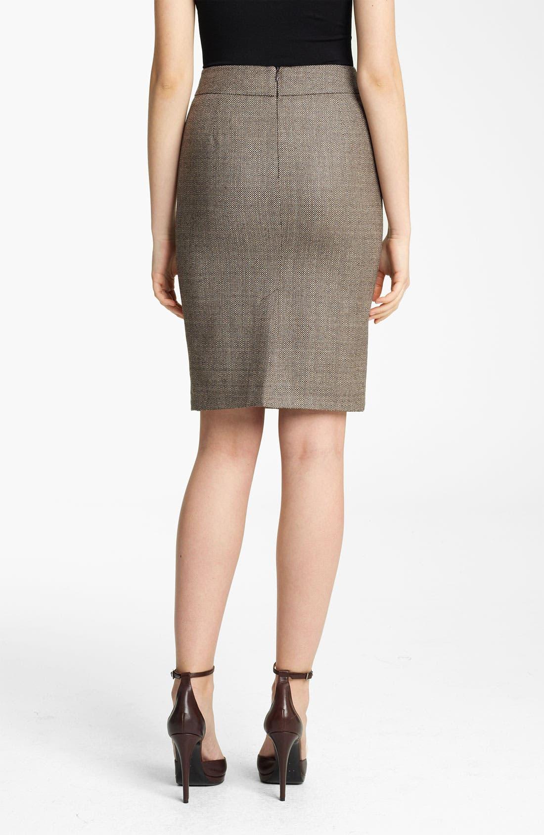 Alternate Image 2  - Armani Collezioni Check Straight Skirt