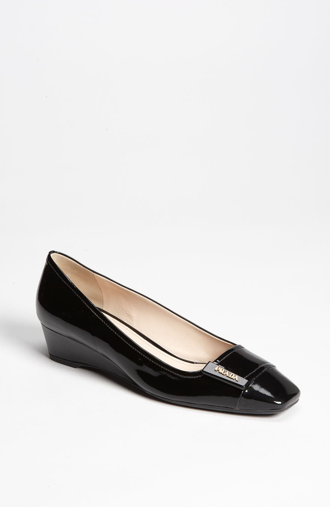 Main Image - Prada Buckle Wedge Pump