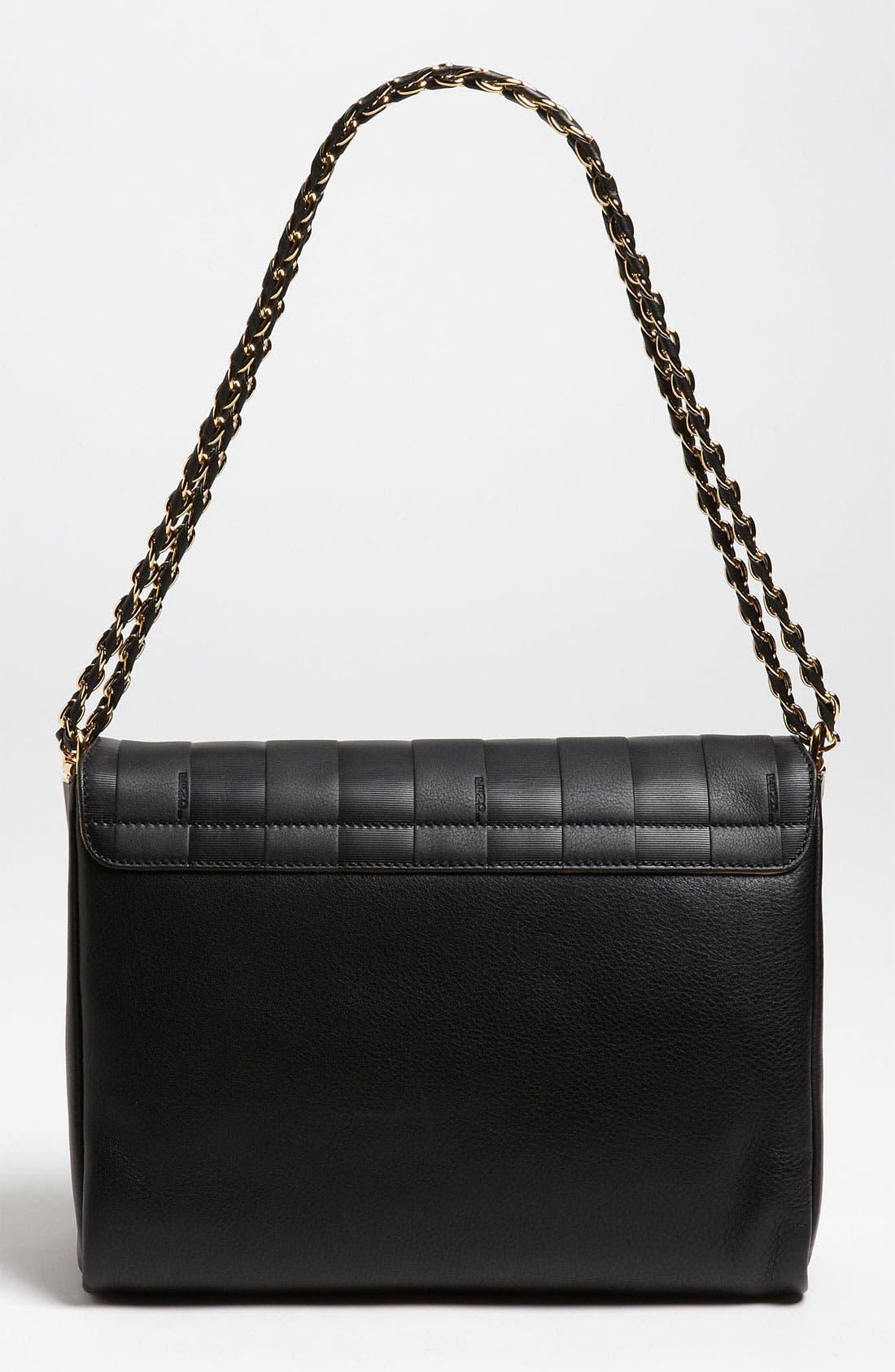 Alternate Image 4  - Fendi 'Paris Pequin - Large' Leather Shoulder Bag