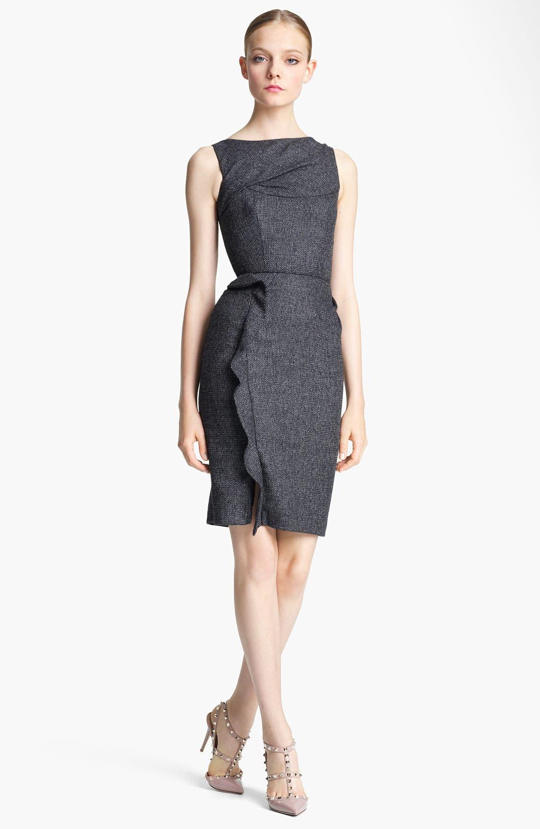 Main Image - Valentino Ruffle Detail Tweed Dress