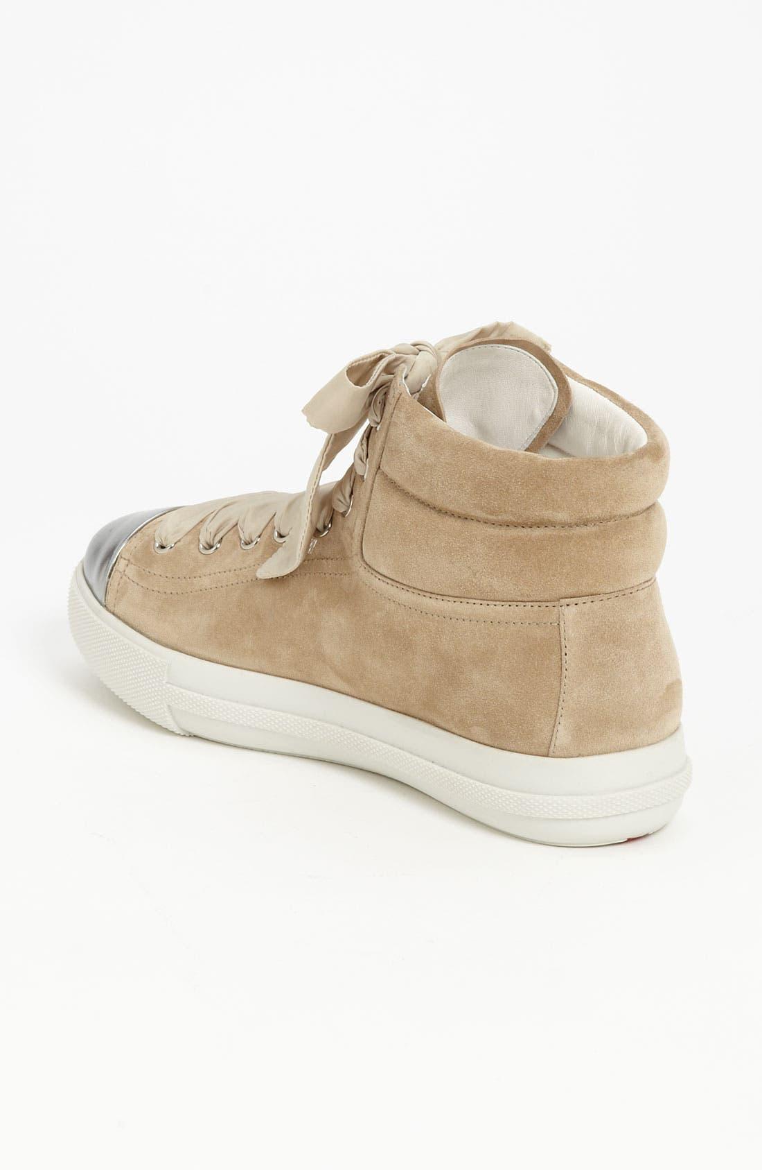Alternate Image 2  - Prada High Sneaker
