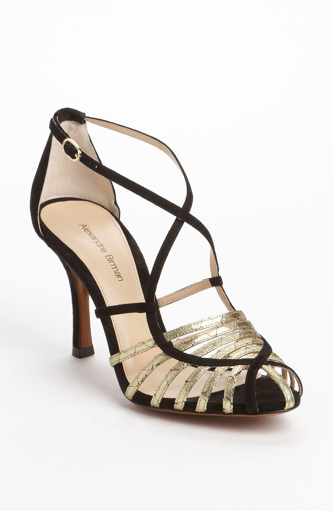 Main Image - Alexandre Birman Genuine Python Strap Sandal (Exclusive Color)