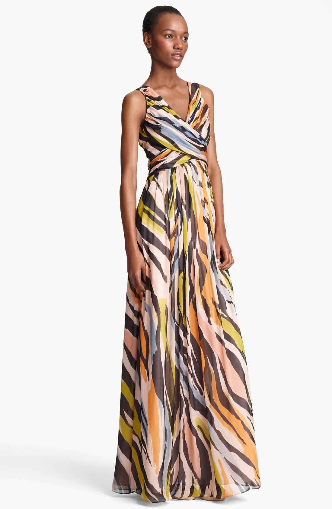Main Image - Moschino Cheap & Chic Animal Print Silk Gown