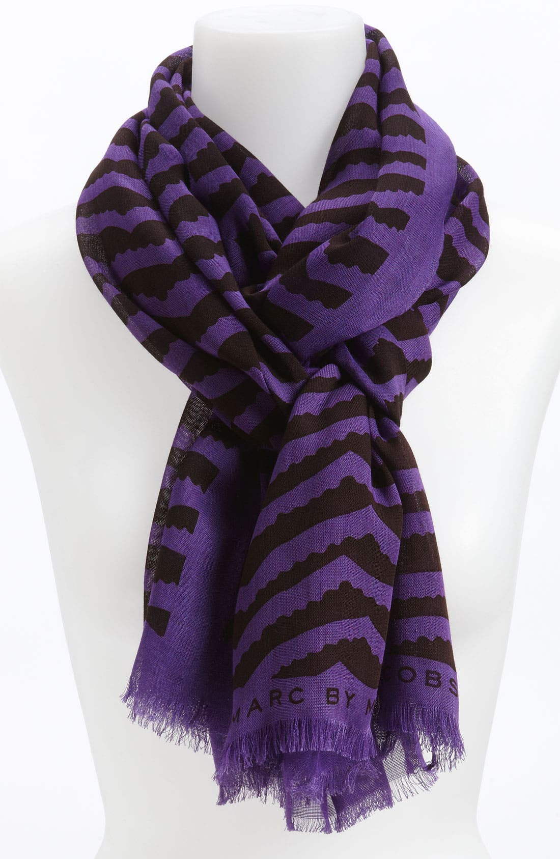 Alternate Image 1 Selected - MARC BY MARC JACOBS 'Zora' Stripe Scarf